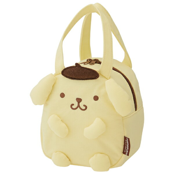 ダイカットバッグ ポムポムプリン スエット素材 キャラクター ( 子供用カバン スウェット素材 ダイカット かばん 鞄 カバン 子ども用 子供用 ぽむぽむぷりん サンリオ )