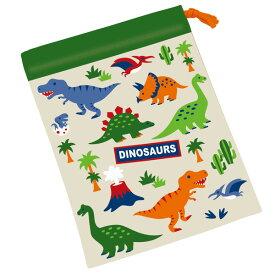 コップ袋 ディノサウルス 歯ブラシホルダー付き 子供用 ( 子ども用 幼稚園 保育園 給食袋 巾着 恐竜グッズ コップ入れ 子供用コップ お弁当グッズ 子供 子ども )