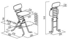 折りたたみ椅子リリィチェア6段階調節ダークブラウン