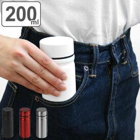 水筒 ミニボトル CLAP MINI マグボトル 200ml ステンレス ( プチボトル ミニサイズ ボトル 保温 保冷 コンパクト 直飲み ミニステンレスボトル ポケ ミニ プチ 小さめ スリム ステンレス製 ステンレスボトル )