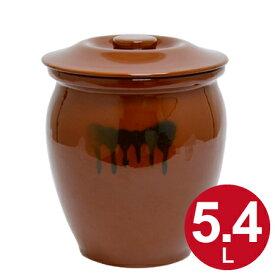漬物容器 丸かめ 3号 5.4L 蓋付き 陶器 ( 漬物樽 つけもの容器 漬け物容器 ぬか漬け 漬けもの 漬物器 かめ 壺 保存容器 )