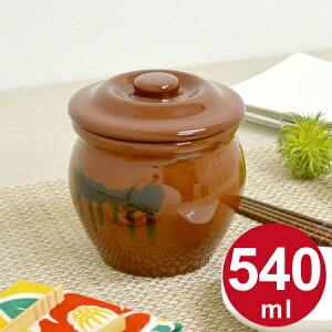 漬物容器 ミニ壺 0.54L 蓋付 陶器 ( 漬物樽 つけもの容器 漬け物容器 ぬか漬け 漬けもの 漬物器 かめ 壺 保存容器 )