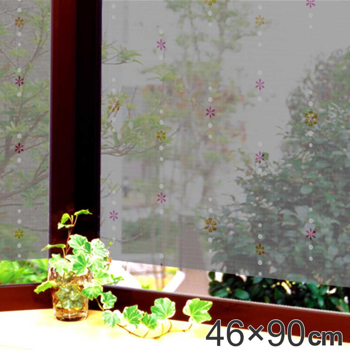 遮熱・断熱窓飾り 両面柄付 GCV-4671 46cm×90cm ( 遮熱シート 遮熱フィルム 遮光 窓 マド エコ 節電 )
