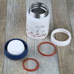 保温弁当箱スープジャーPOLARBEARフードポットしろくまステンレス製320ml