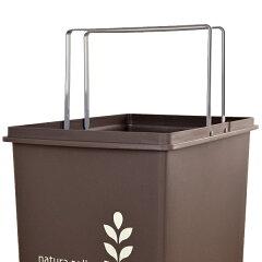 ゴミ箱45Lふた付きスライドペール45リットルリーフ