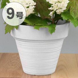 植木鉢 9号 M プラスチック NEAT ホワイト 軽い プランター 鉢 丸型 ( 鉢カバー 植木 ガーデン フラワーポット カバー 観葉植物 ガーデニング 園芸用品 グリーンポット グリーン 緑 ポット 植木鉢ポット インテリア おしゃれ )