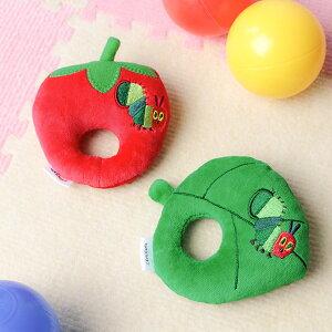 ガラガラ はらぺこあおむし 葉っぱ 苺 ラトル おもちゃ 玩具 赤ちゃん キャラクター ( にぎにぎ がらがら 鈴入り ベビーラトル ファーストトイ ベビー用品 ベビーおもちゃ 0歳 3ヵ月 6ヵ月