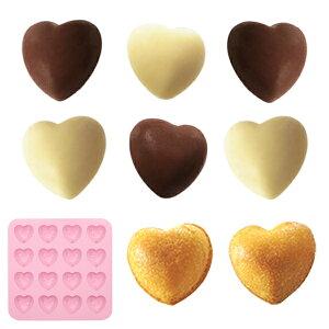 チョコレート型 ハート シリコン型 16個取 ( チョコ シリコン製 製菓道具 ハート型 グミ 型 チョコ型 製菓 シリコントレー オーブン 電子レンジ 冷凍庫 対応 OK )
