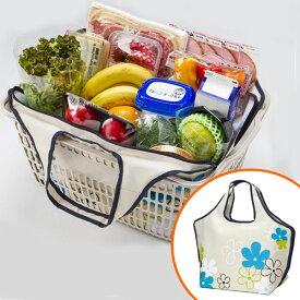 レジカゴバッグ プチフルールNV クールバッグ 23L ファスナータイプ ( エコバッグ 買い物バッグ 保冷バッグ レジかごバッグ ショッピングバッグ 保冷ショッピングバック 買い物袋 レジバッグ エコロジーバッグ 買い物鞄 レジかご型 )