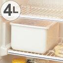 保存容器 ホーローストックポット 角型 M 4L ( 琺瑯容器 ホーロー容器 漬け物容器 琺瑯製 ストッカー ぬけ漬け 糠漬…