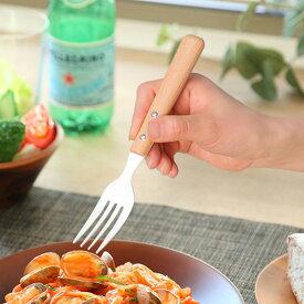 フォーク 20cm ナチュラルブラン Natural Blanc デザートフォーク ステンレス製 ホーロー 天然木 日本製 ( テーブルフォーク 洋食器 カトラリー 琺瑯 白 木 おしゃれ かわいい 木目 ナチュラル )
