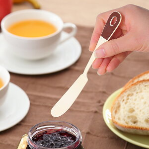 バターナイフ 17cm セーグル Seigle ステンレス製 ホーロー 日本製 ( バタースプレダー 洋食器 カトラリー アイボリー ブラウン 琺瑯 バター ジャム マーガリン おしゃれ かわいい )