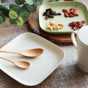 プレート 17cm プラスチック カームディッシュ 角皿 食器 洋食器 日本製 ( 電子レンジ対応 食洗機対応 中皿 取り皿 四角 スタッキング 平皿 パン ケーキ お皿 割れにくい )