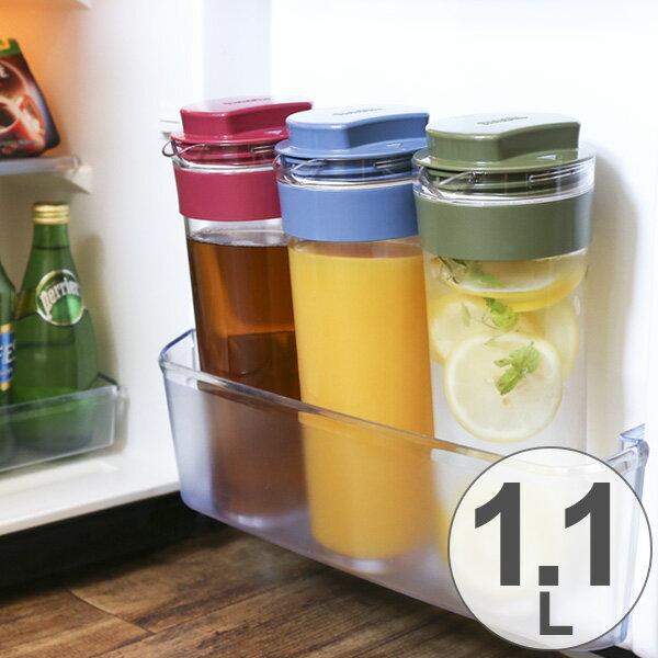 冷水筒 スリムジャグ 1.1L 横置き 縦置き 耐熱 日本製 ( ピッチャー 麦茶 冷水ポット 麦茶ポット 水差し 耐熱 熱湯 約 1リットル プラスチック )
