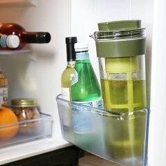 冷水筒スリムジャグ1.1L茶漉し付き横置き縦置き耐熱茶漉しフィルター冷茶日本製