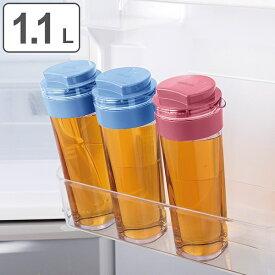 冷水筒 麦茶ポット スリムジャグ 1.1L ピッチャー 横置き 縦置き 耐熱 日本製 ( 麦茶 冷水 ポット ジャグ 水差し 熱湯 ドアポケット 冷蔵庫 ドア 冷水ポット ドリンクピッチャー おしゃれ プラスチック )
