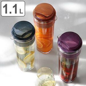 冷水筒 ピッチャー スリムジャグ 1.1L 麦茶ポット 耐熱 横置き 縦置き 洗いやすい 日本製 ( お茶ポット 熱湯 ドアポケット ジャグ ポット 麦茶 冷茶 ドリンクピッチャー お茶入れ )