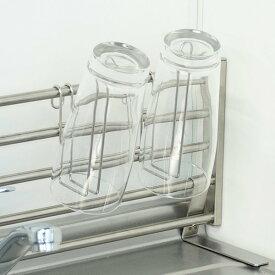 マルチスタンド グラススタンド まな板立て ステンレス製 棚小物シリーズ ( グラスホルダー グラスハンガー グラス用フック コップ用フック まな板ホルダー 鍋蓋ホルダー キッチン収納 グラス掛け コップ掛け まな板スタンド )