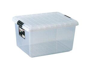 収納ケース クローゼット用 ロックウェル〔ハーフ〕 2個セット ( 収納ボックス 衣装ケース 工具箱 フタ付き 押入れ収納 プラスチック 蓋付 積み重ね スタッキング 衣類収納 )