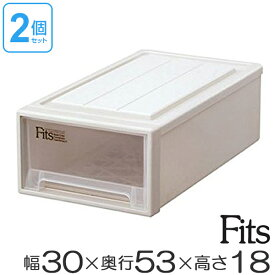 収納ケース Fits フィッツ フィッツケース フィッツケースクローゼット S-30 2個セット ( 収納 収納ボックス 衣装ケース 押入れ収納 引き出し プラスチック 積み重ね スタッキング 引出し 天馬 日本製 衣類ボックス 奥行53 幅30 )