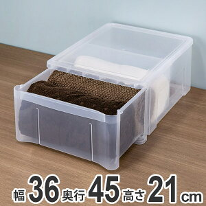 収納ボックス プレクシー ケース LL B4 サイズ 日本製 ( 小物ケース 収納ケース レターケース レターボックス 書類ケース 引き出し クリア 透明 小物 収納 小物入れ プラスチック 積み重ね 積