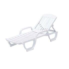 ラウンジチェア リクライニング式 樹脂製 ( 送料無料 寝椅子 ガーデン プール )