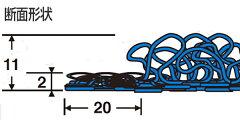 玄関マット屋外用サイズオーダーケミタングルストライプM75x180cm