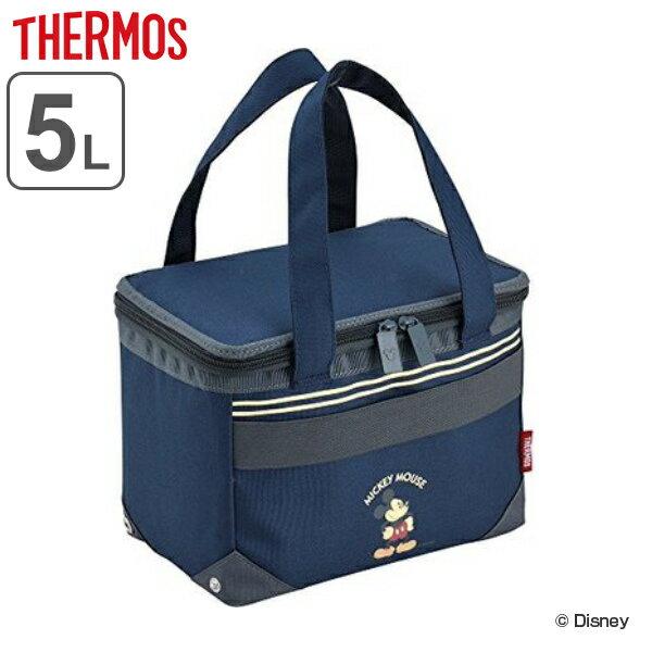 クーラーバッグ ミッキーマウス 5L サーモス(thermos) ソフトクーラー REH-005DS ( ショッピングバッグ 保冷バッグ クーラーボックス キャラクター mickey mouse 冷蔵ボックス 保冷 買い物バッグ 折りたたみ )