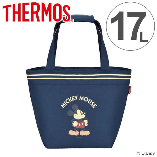 クーラーバッグ ミッキーマウス 17L サーモス(thermos) ソフトクーラー REH-017DS ( ショッピングバッグ 保冷バッグ クーラーボックス 大容量 キャラクター mickey mouse 冷蔵ボックス トートバッグ 保冷 買い物バッグ )