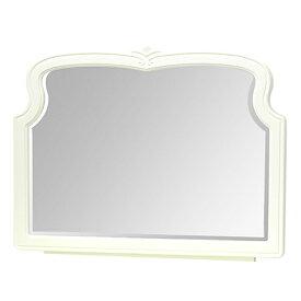 デスクミラー 姿見 ロマンチック クラシック調 BLANC 幅79cm ( 送料無料 ミラー 鏡 化粧鏡 白家具 姫系 卓上ミラー 卓上 メイクミラー デザインミラー ドレッサー ロココ調 上品 大人かわいい 大人可愛い おしゃれ ひとり暮らし )