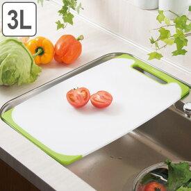 まな板 耐熱抗菌まな板 シンクサイズ LLL プラスチック ラバー付き 食洗機対応 ( プラスチック製 抗菌まな板 カッティングボード 抗菌加工 まないた 両面使える マナイタ 調理用品 調理器具 キッチン用品 3L )