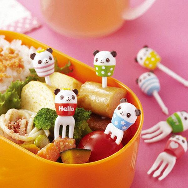 ピック るんるんカップパンダ ピックスセット 8本入り ( お弁当グッズ キャラ弁 子供用 お弁当ピック お弁当用 ピックス デコ弁 )