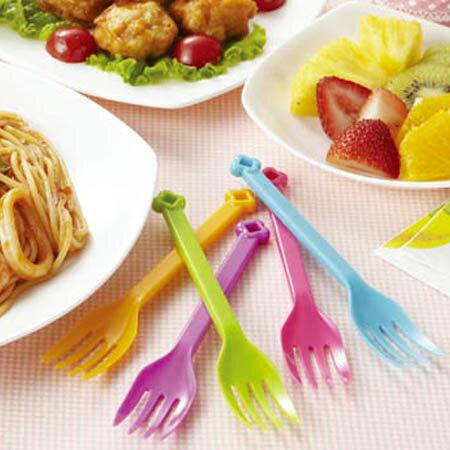 フォーク フラワーフォーク L 10本入 プラスチック製 ( アウトドア食器 使い捨て食器 花 パーティー食器 )