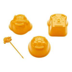 ゼリー型 アンパンマン ゼリーモールド ピック付き プラスチック製 キャラクター ( ゼリー 型 モールド 流し型 それいけ!アンパンマン 日本製 カレーパンマン しょくぱんまん 顔 お菓子作