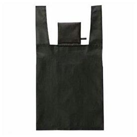 エコバッグ ショッピングバッグ ブラック 折りたたみ コンパクト収納 ( トートバッグ 買い物バッグ 買い物袋 レジバッグ コンビニバッグ バッグ 手提げ袋 エコロジーバッグ )