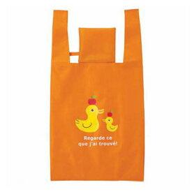 エコバッグ ショッピングバッグ あひる 折りたたみ コンパクト収納 ( トートバッグ 買い物バッグ 買い物袋 レジバッグ コンビニバッグ バッグ 手提げ袋 エコロジーバッグ )
