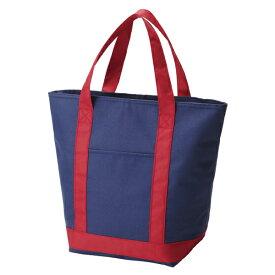 保冷バッグ ショッピングバッグ ネイビー ファスナー式 トートバッグ ( 保冷トートバッグ クーラーバッグ 大容量 保温バッグ 買い物鞄 買い物バッグ 保冷トート )