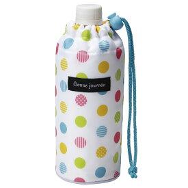 ペットボトルカバー 500ml用 カラフルドット ( ペットボトルケース ペットボトルホルダー 保温 保冷 0.5L ボトルカバー ボトルホルダー ストラップ付 ドット柄 )
