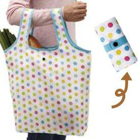 エコバッグ ショッピングバッグ カラフルドット 折りたたみ コンパクト収納 ( トートバッグ 買い物バッグ 買い物袋 レジバッグ コンビニバッグ バッグ 手提げ袋 エコロジーバッグ )
