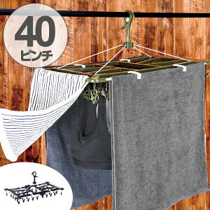 洗濯ハンガー ピンチハンガー ID タオルで隠し干しハンガー ジャンボ 40P ( ハンガー 角ハンガー 物干しハンガー 洗濯物干し 洗濯 洗濯物 隠す 一人暮らし アルミ 洗濯バサミ ピンチ 40 折り