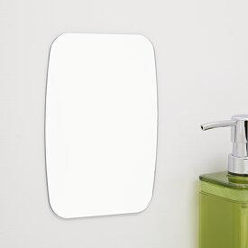 バス収納 磁着マグネット 磁着SQ マグネットバスミラー ( バス ミラー 鏡 磁石 マグネット 浴室 バスルーム お風呂 割れにくい プラスチック製 壁面 壁 バス用品 四角 スクエア )