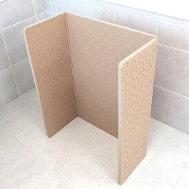 風呂マット 60×85 ラバーマットー 折りたたみラバーすのこ ラバーすのこ ( 風呂 すのこ 洗い場 マット 折り畳み お風呂マット 浴室内マット 洗い場マット 折りたたみ すべりにくい 防カビ 立てられる コの字 60×85cm )