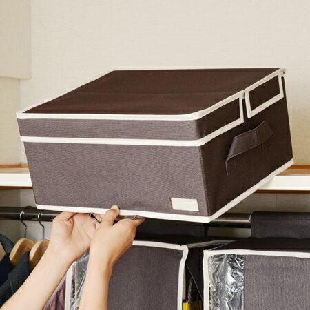 取っ手付き 収納ボックス プラスワン ( 天袋収納 不織布 衣類収納 押入れ収納 )