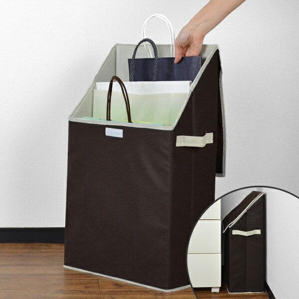 紙袋収納 ショッパーストレージボックス プラスワン ( クローゼット収納 布製 収納 ケース )