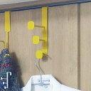 ドアフック ロング フレーモ ウィング 3連 ハングフック スチール製 ( ドアハンガー ドア フック ハンガー ドア用 お…