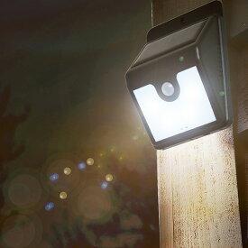 防犯 屋外 LED センサーライト 防雨形 モーションセンサー付照明 ナイトスター ( 照明 ライト 防災 ソーラー 防犯グッズ 配線不要 電池不要 防雨型 IPX3 外 災害 庭 ガレージ 玄関 エントランス 人感センサー )