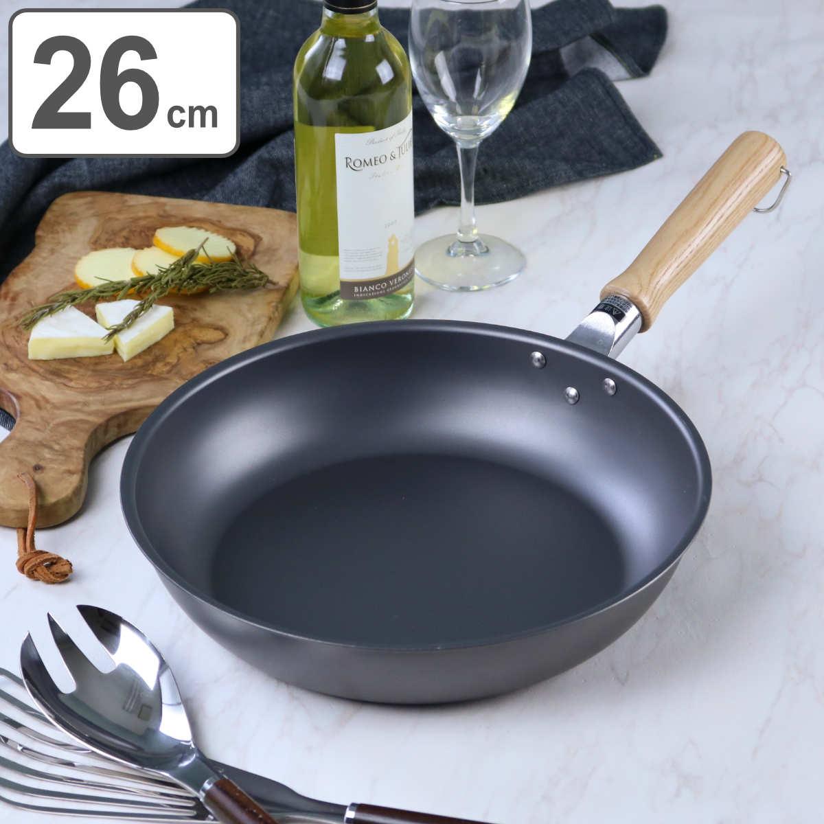 フライパン 鉄匠(TESSHO) フライパン 26cm IH対応 ユミック UMIC ( 送料無料 ガス火対応 鉄フライパン 浅型フライパン 26センチ 鉄製フライパン 油ならし不要 空焚き不要 ウルシヤマフライパン オール熱源対応 キッチン用品 )