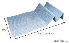 レジャーシート極厚15mm折りたたみ式レジャーマット幅100cm厚手