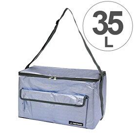 クーラーバッグ アクアクーラー ブルー 35L アルミ ( ソフトクーラー 保冷バッグ クーラーボックス 冷蔵ボックス 折りたたみ コンパクト 大容量 ペットボトル アウトドアグッズ キャンプ用品 35リットル )