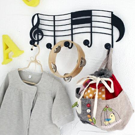 ドアハンガー ツーウェイハンガー 音符 ( ドアフック ドアハンガーフック 壁掛け 木ネジ かわいい キッズ 山崎実業 )